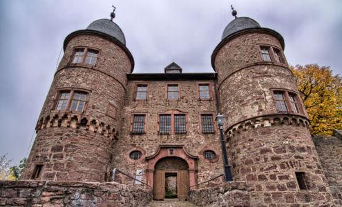 Schlossgasse, Kreuzwertheim, Bayern, Deutschland