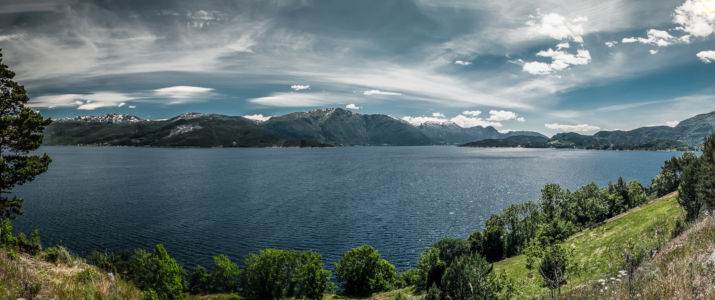 Vikøyvegen, RV7, Tørvikbygd, Hordaland Fylke, Norge