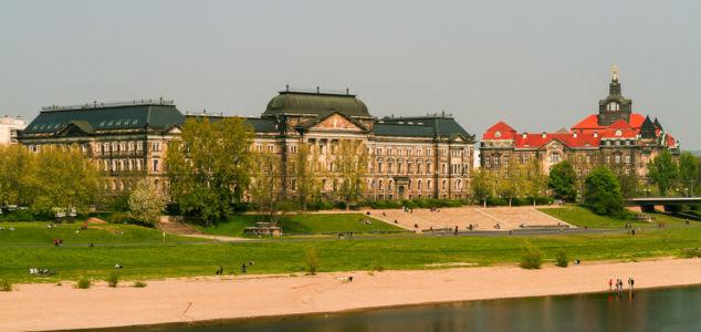 Terrassenufer, Innere Altstadt, Dresden, Sachsen, Deutschland