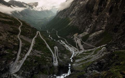 Trollstigvegen, RV63, Åndalsnes, Møre og Romsdal Fylke, Norge