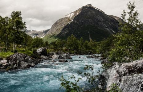Skjelbostad, Fjørå, Møre og Romsdal Fylke, Norge