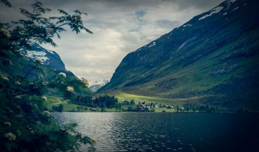 Ørnevegen, RV63, Eidsdal, Møre og Romsdal Fylke, Norge