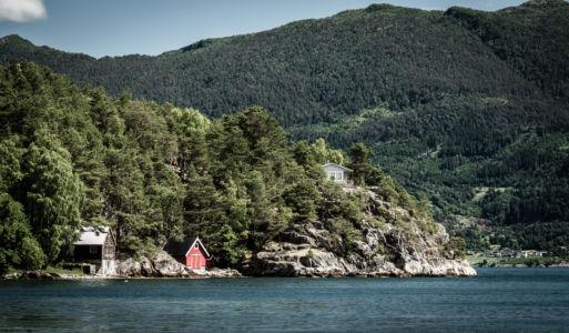 RV55, Vikøyri, Sogn og Fjordane Fylke, Norge