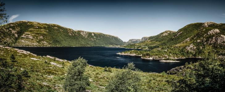 Eikemofoss, Hosteland, Hordaland, Norwegen