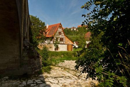Eckartshof, Rothenburg ob der Tauber, Bayern, Deutschland
