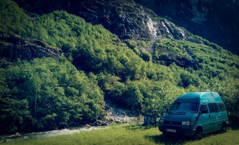 Vasstrondvegen, Oppheim, Hordaland Fylke, Norge