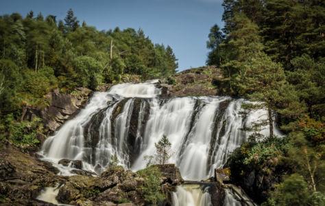 Eikemofoss, Matre, Hordaland Fylke, Norge