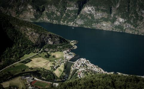 Aurlansvegen/Snøvegen, Fv243, Aurland, Sogn og Fjordane Fylke, Norge