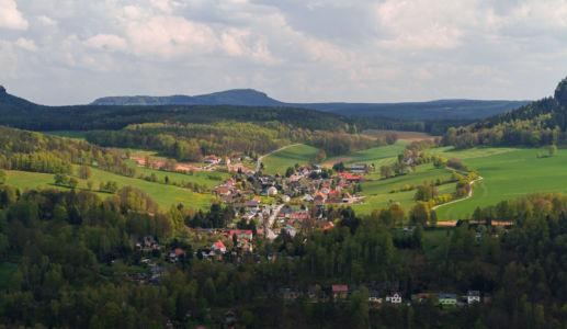 Patrouillenweg, Königstein, Sachsen, Deutschland