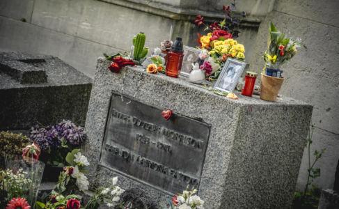 Père Lachaise, Grave Of Jim Morrison, Paris, France