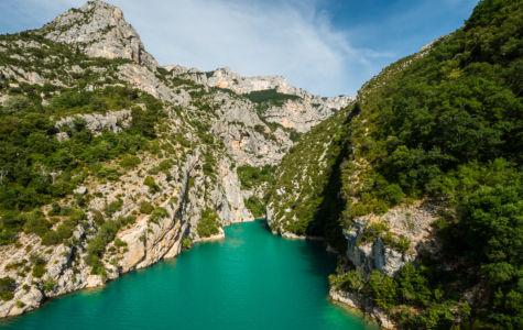 D 957, Aiguines, Alpes-de-Haute-Provence, France