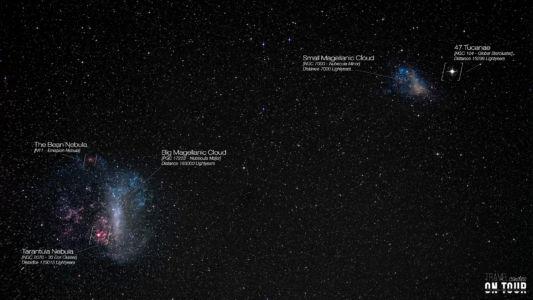 Big & Little Magellanic Cloud, Tarantula Nebula, Atacama Desert, Chile