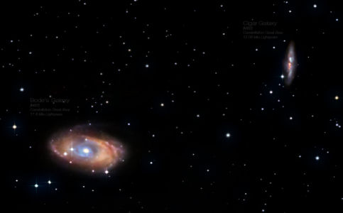Bode's & Cigar Galaxy (M81 & M82)