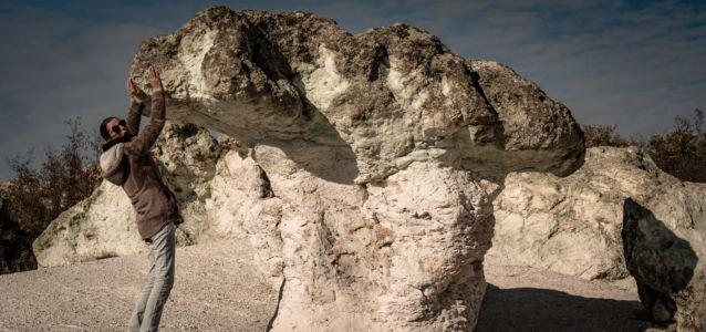 Bulgaria, Stone Mushrooms, Beli Plast - GPS (41,785423; 25,432349)