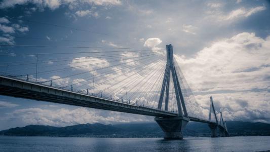 Corinth Bridge, Greece, Andirrio - GPS (38,328988; 21,766942)
