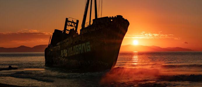 Dimitrios Shipwreck, Greece, Valtaki - GPS (36,790108; 22,582557)