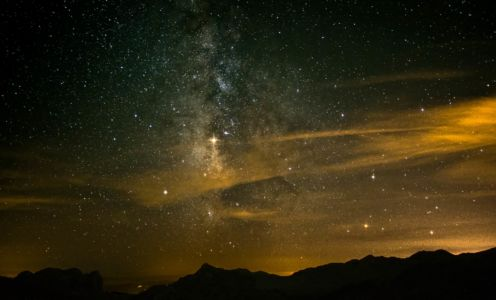 Milky Way Over Montenegros Mountains