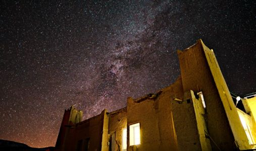 Milkyway Over Bou Tarhbalout, Morocco