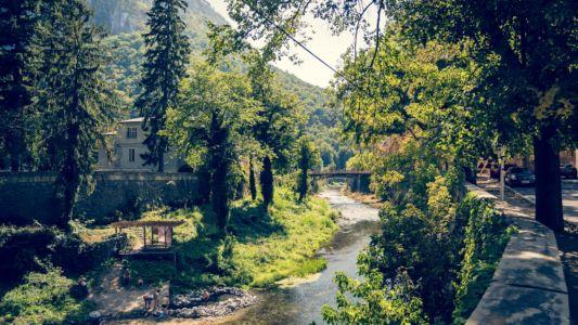 Romania, Caras-Severin, Baile Herculane - GPS (44,889629; 22,423570)