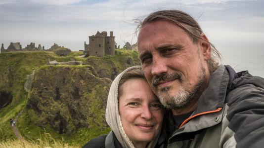Selfie, Stonehaven, Dunnottar, Scotland