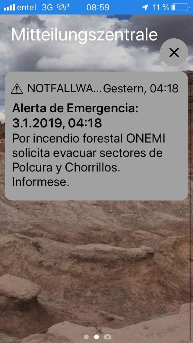 Evacuation Navidad